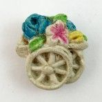 Plaster Flower Cart