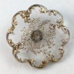 Scalloped Crystal with Gold