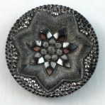 Silver Luster Black Glass Lacy