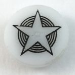 Star Incised Clambroth Glass