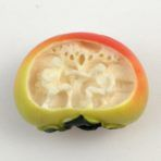 Carved Ivory Persimmon with Miniature Scene