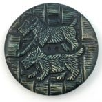 Terrier Dogs Celluloid Wafer