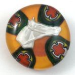 Sulphide Horse Head Paperweight