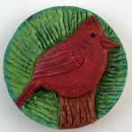 Cardinal Bird on Post